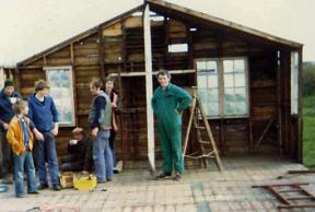 1984 - Building the Scout Hut