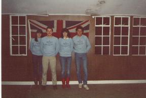1985 - Inside Scout Hut.
